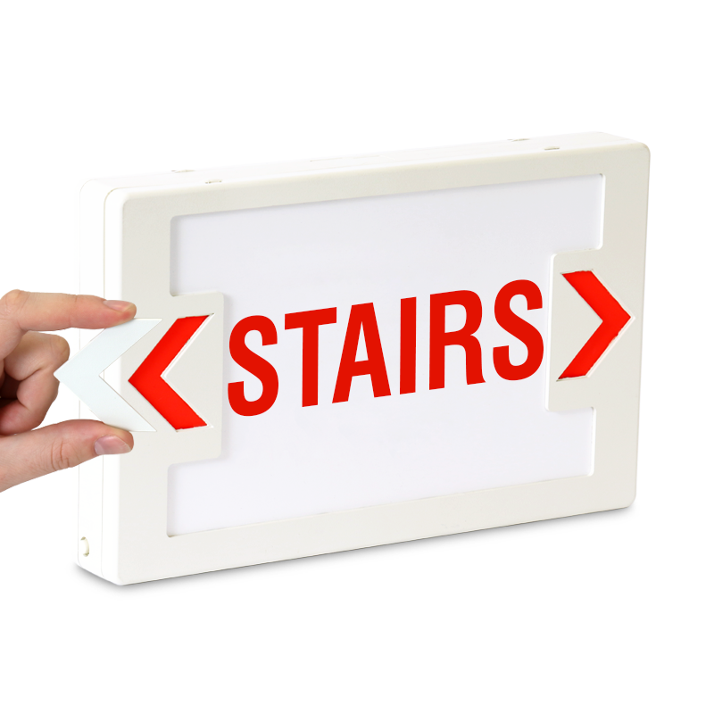 Stairs Led Sign With Battery Backup Sku Exit 1017