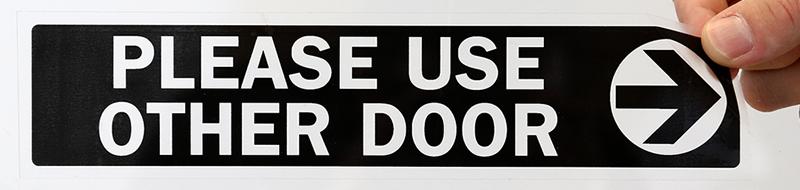 Please Use Other Door Label With Arrow Mydoorsign Com
