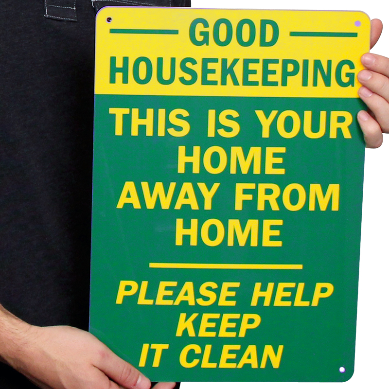 Clean Wholesome: Home Away Please Help Keep Clean Signs, Housekeeping Signs