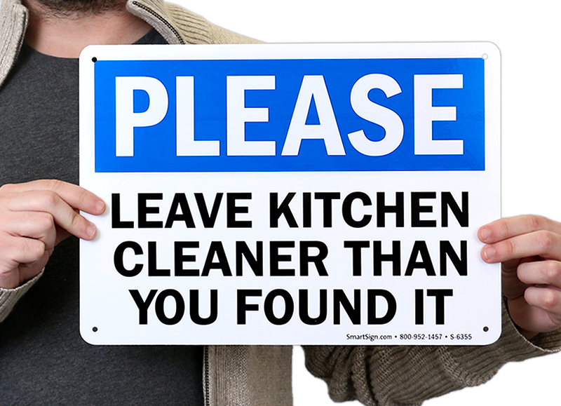 Leave Kitchen Cleaner Than You Found It Sign Ships Free