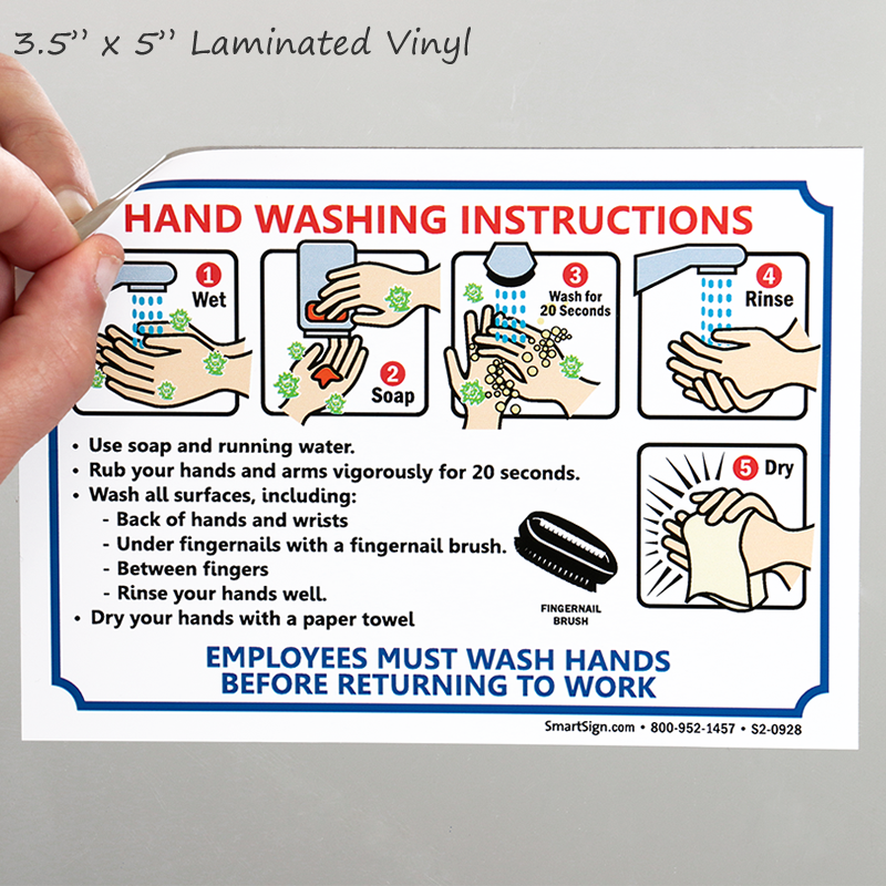 Employees Hand Washing Instruction Bathroom Etiquette Sign Sku S2