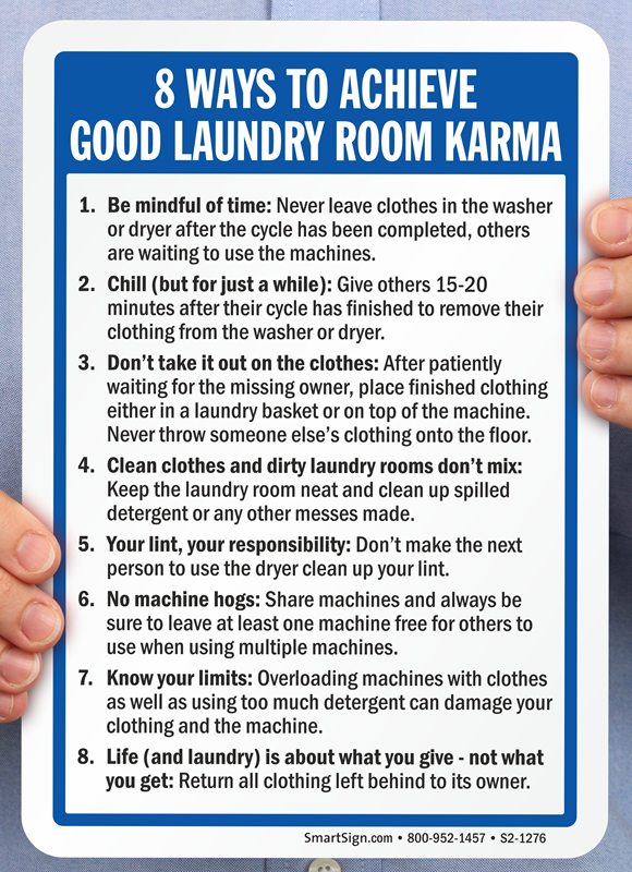 Good Laundry Room Karma Sign Sku S2 1276