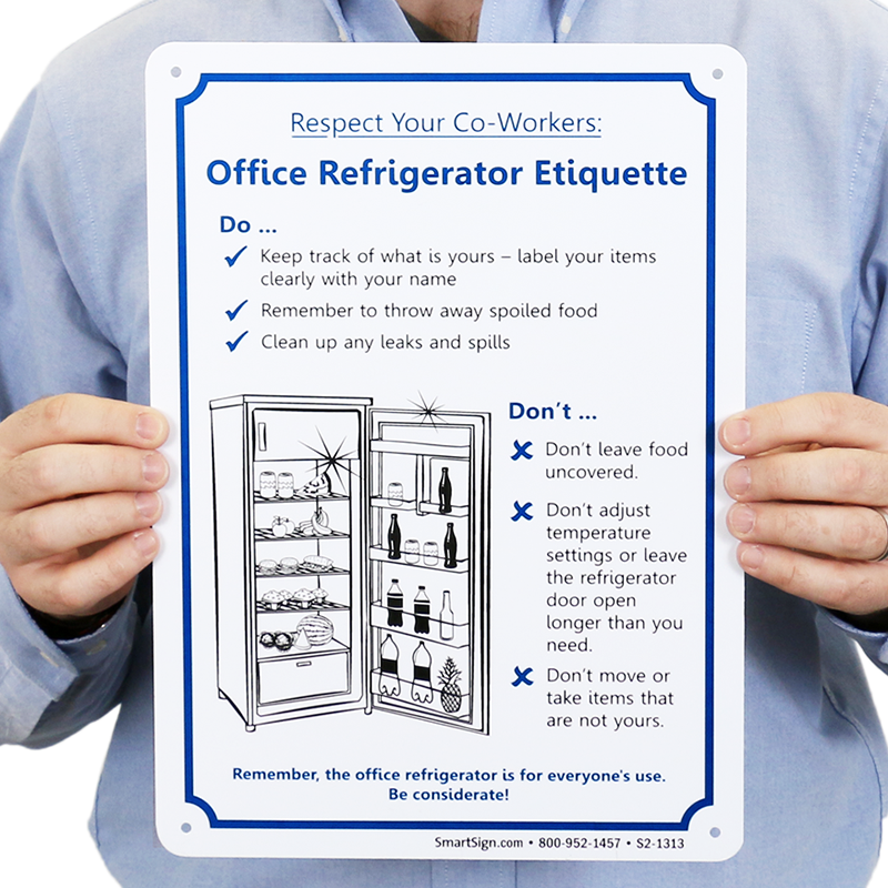 ... Office Refrigerator Etiquette Sign ...