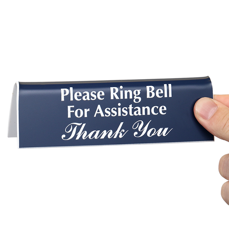 officepal tabletop tent sign ring bell for assistance sign sku