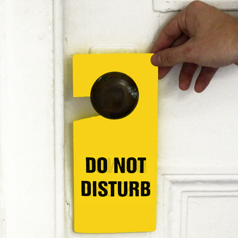 Do Not Disturb Plastic Door Knob Hanger Tag - Hang Tags, SKU: TG-0003