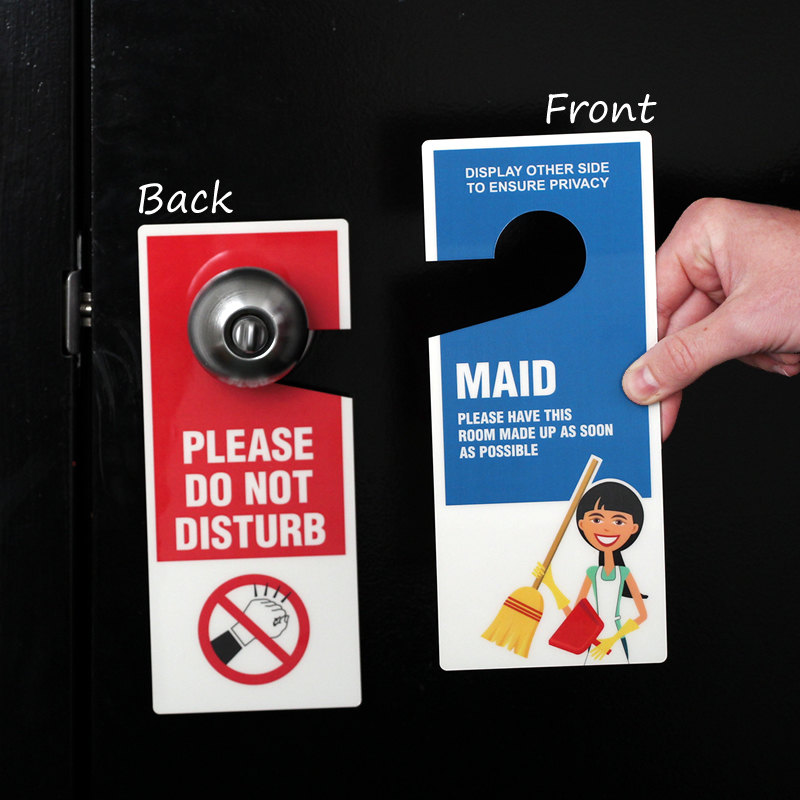 Maid Clean Room Maintenance Door Hanger Do Not Disturb