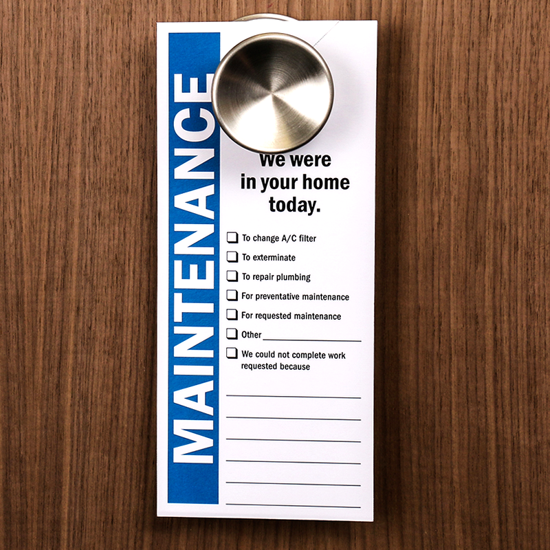 Great Maintenance Door Hanger Template Images Gallery Maintenance - Maintenance door hanger template