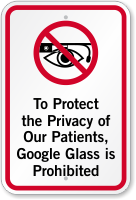Google Glass Is Prohibited For Privacy Of Patients Sign. Bronchitis Signs. December 6 Signs Of Stroke. Manipulative Signs. Doctor's Signs Of Stroke. Wood Signs. Alcohol Withdrawal Signs. Coming Signs. Iron Signs