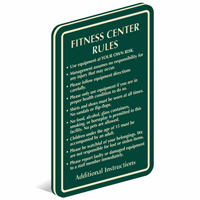 Gym fitness room signs health club signs at best price