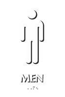 9in X 6in Men Bathroom Braille Sign Sku Se 1773 Color