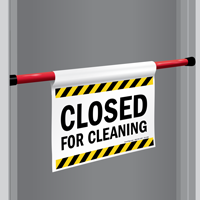 Closed For Cleaning Door Barricade Sign Sku S2 1961