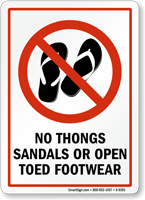 No Open Toed Footwear