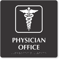 Physician Office Braille Sign Caduceus Snake Sku Se 5422