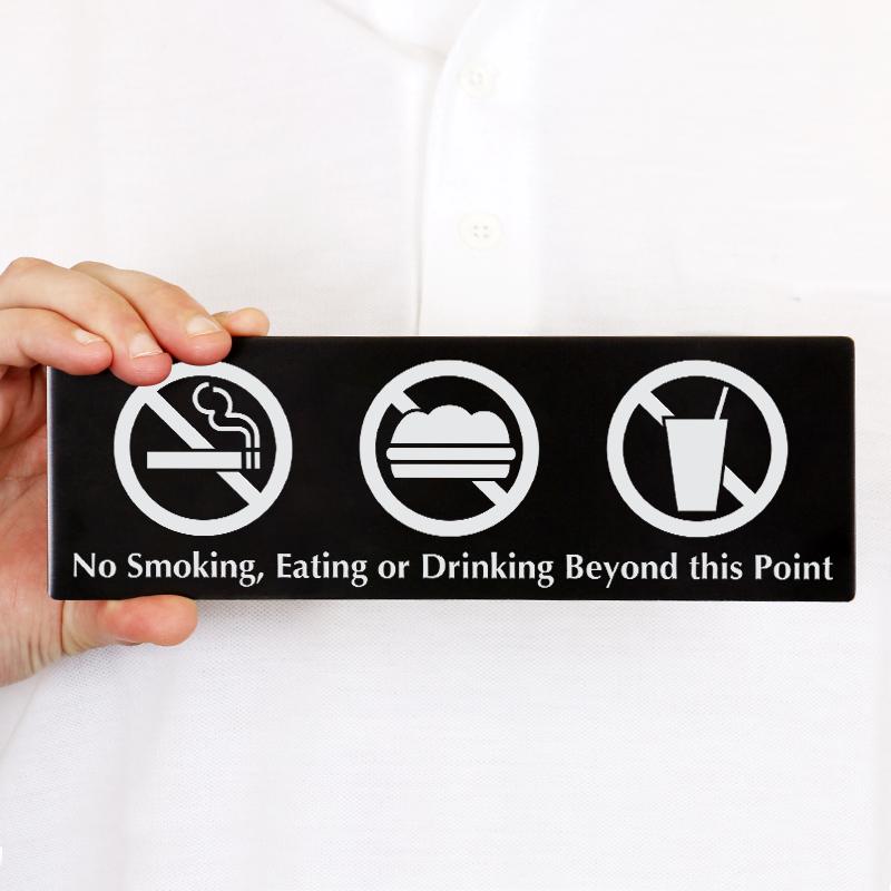 No Smoking Eating or Drinking Sign for Door, SKU - DP-0047