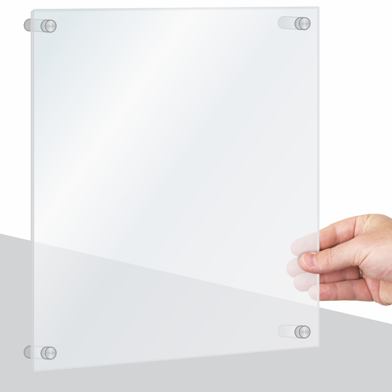 Standoff Acrylic Wall Sign Frame - Easily Switch Out The Sign, SKU ...