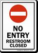 Sorry Restroom Out Of Order Sign, SKU: S2-1262